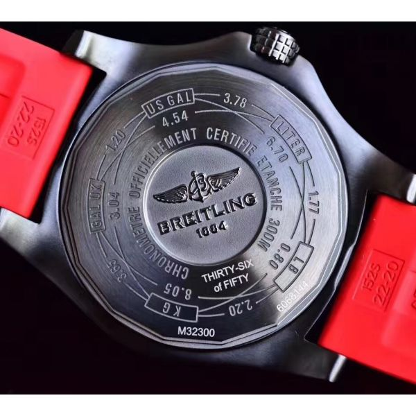 Avenger GMT DLC GF Best Edition Black Forged Carbon Dial on Red Rubber Strap A2836