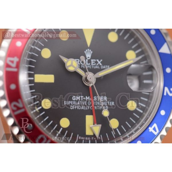Rolex GMT-Master Vintage A2813 Dot Markers Black Dial